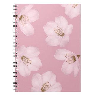 Watercolor Mauve Cherry Blossom Sakura Notebook