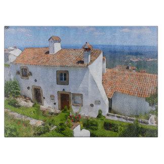 Watercolor Mediterranean house Boards