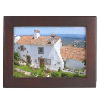 Watercolor Mediterranean house Keepsake Box