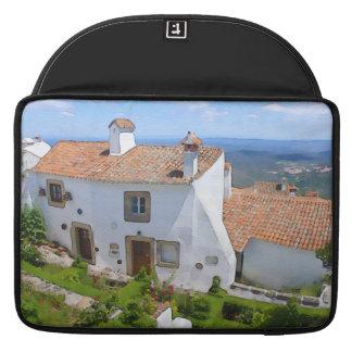 Watercolor Mediterranean house Sleeve For MacBooks