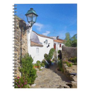 Watercolor Mediterranean village Spiral Notebook