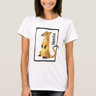 Watercolor Meerkat Inside a Hand Drawn Frame T-Shirt