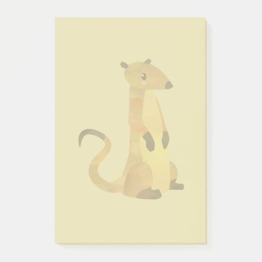 Watercolor Meerkat on a Beige Background Post-it® Notes
