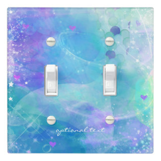 Watercolor Mermaid Tail Personalized Tropical Sea Light Switch Cover