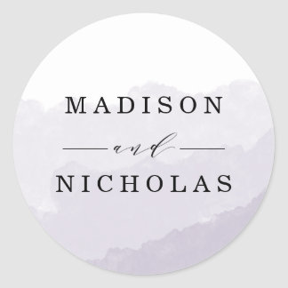 Watercolor Mist | Wedding Favor Stickers