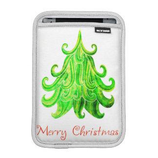 Watercolor Modern Christmas Tree iPad Mini Sleeve