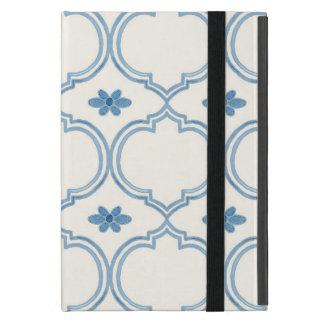 Watercolor Moroccan Quatrefoil Vintage Pattern iPad Mini Covers