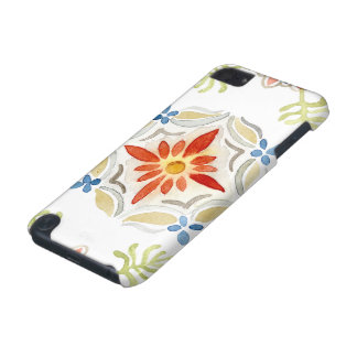 Watercolor Moroccan Sunset Vintage Tile Pattern iPod Touch 5G Case
