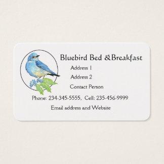 Watercolor Mountain Bluebird Blue Bird Art for the Business Card
