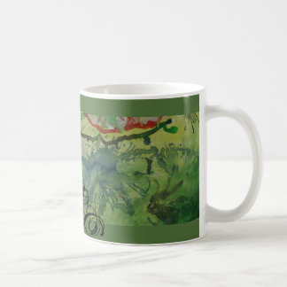 Watercolor mug with #YOLO