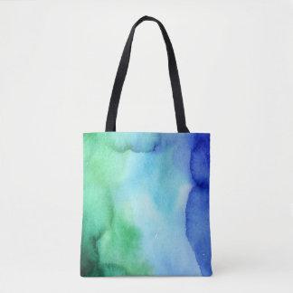 Watercolor Multicolor Sea Shades (3) All Options Tote Bag