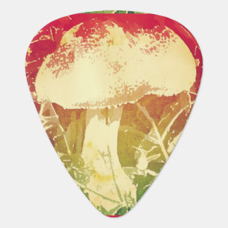 Watercolor Mushroom Guitar Picks Pick