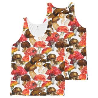 Watercolor mushrooms Cute fall pattern All-Over-Print Tank Top