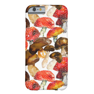 Watercolor mushrooms Cute fall pattern Barely There iPhone 6 Case