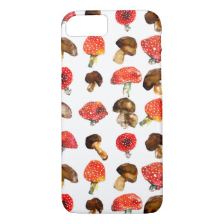 Watercolor mushrooms Cute fall pattern Case-Mate iPhone Case
