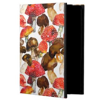 Watercolor mushrooms Cute fall pattern Cover For iPad Air