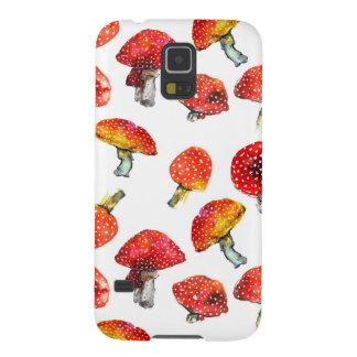 Watercolor mushrooms Cute fall pattern Galaxy S5 Cover