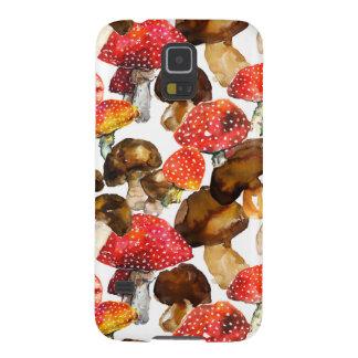 Watercolor mushrooms Cute fall pattern Galaxy S5 Covers
