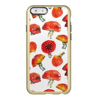 Watercolor mushrooms Cute fall pattern Incipio Feather® Shine iPhone 6 Case