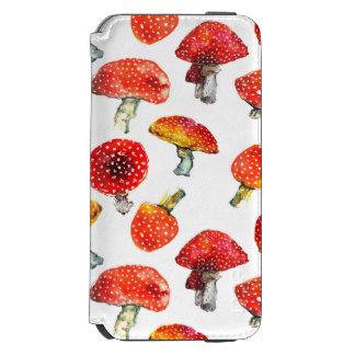 Watercolor mushrooms Cute fall pattern Incipio Watson™ iPhone 6 Wallet Case