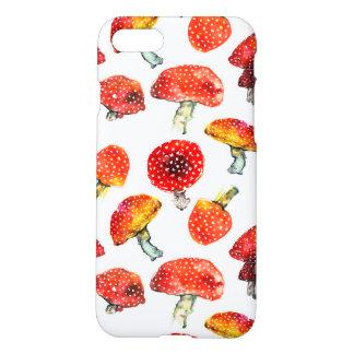 Watercolor mushrooms Cute fall pattern iPhone 8/7 Case