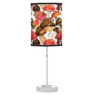 Watercolor mushrooms Cute fall pattern Table Lamp