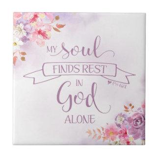 Watercolor My Soul Finds Rest, Ps 62:1 Tile