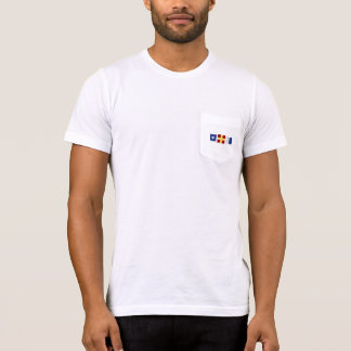 Watercolor Nautical Maritime Signal Flag Monogram T-Shirt