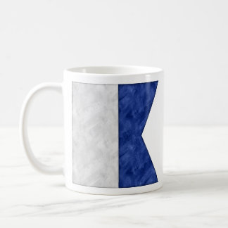 Watercolor Nautical Signal Maritime Flag Coffee Mug