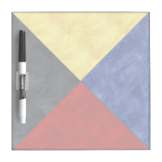 Watercolor Nautical Signal Maritime Flag Dry Erase Board