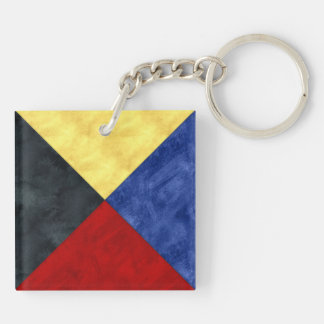 Watercolor Nautical Signal Maritime Flag Keychain