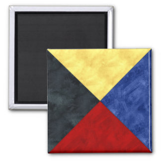 Watercolor Nautical Signal Maritime Flag Magnet