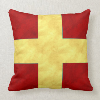 Watercolor Nautical Signal Maritime Flag | NB API Throw Pillow