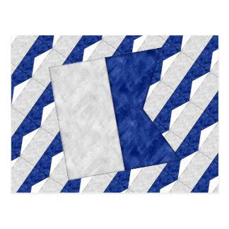 Watercolor Nautical Signal Maritime Flag Postcard