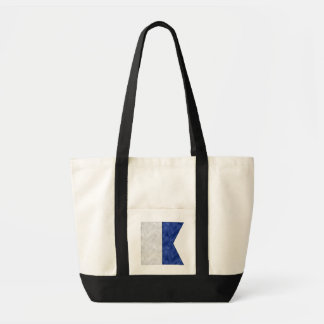 Watercolor Nautical Signal Maritime Flag Tote Bag