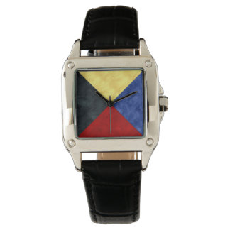 Watercolor Nautical Signal Maritime Flag Watch