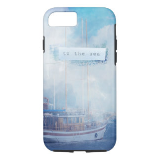 "Watercolor Nautical ""To the Sea"" iPhone 8/7 Case"