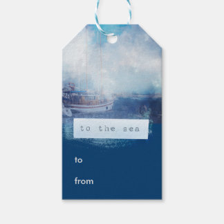 """Watercolor Nautical """"To the Sea"""" Pack Of Gift Tags"""