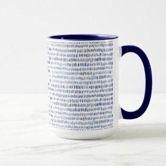 Watercolor navy pattern minimal clean style mug
