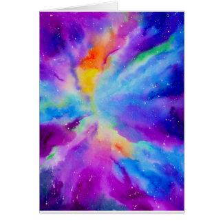 Watercolor Nebula Card