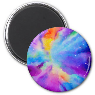 Watercolor Nebula Magnet