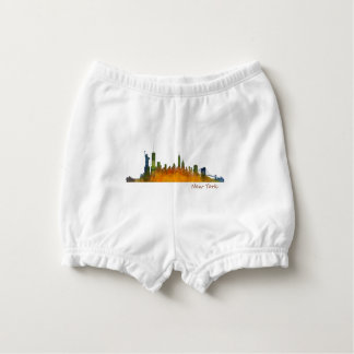 Watercolor New York Skyline Diaper Cover
