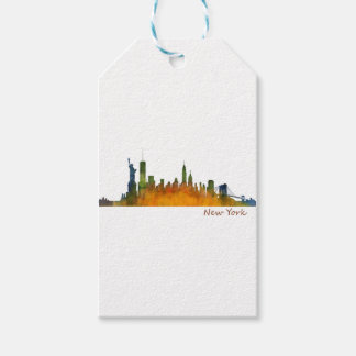 Watercolor New York Skyline Gift Tags