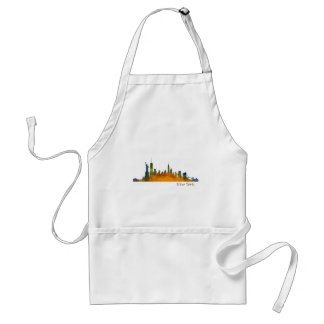 Watercolor New York Skyline Standard Apron