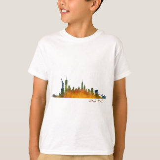Watercolor New York Skyline T-Shirt