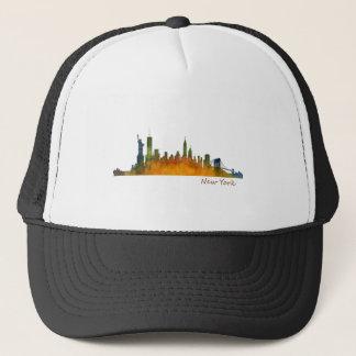 Watercolor New York Skyline Trucker Hat