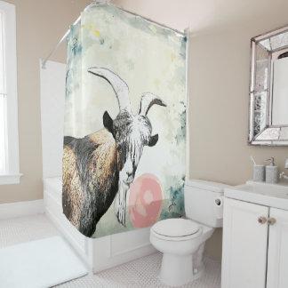 Watercolor Nigerian Goat Blows Bubblegum Bubble