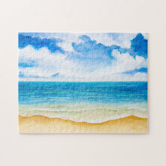 Watercolor Ocean View 11x14 Jigsaw Puzzle