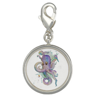 Watercolor Octopus Charm