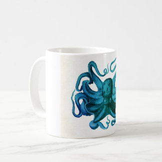 Watercolor Octopus Illustration Coffee Mug
